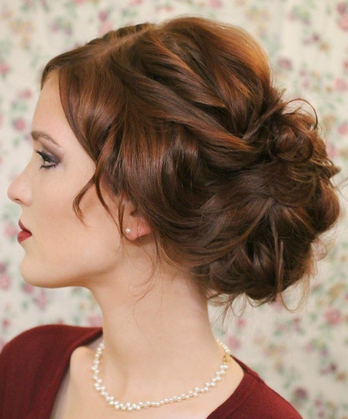 Elegant Loose Bun for Prom