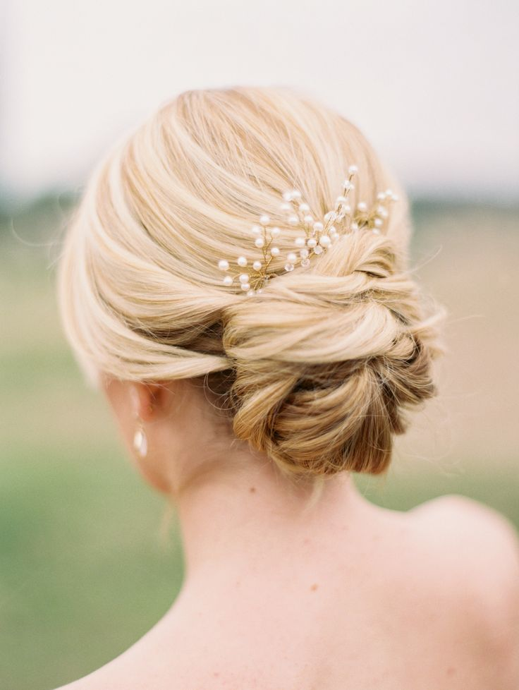 Elegant Lower Updo for Wedding