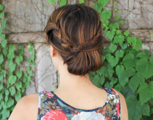 Fantastic Chignon for Long Hair