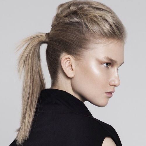 Fashionable Ash Blonde Ponytail