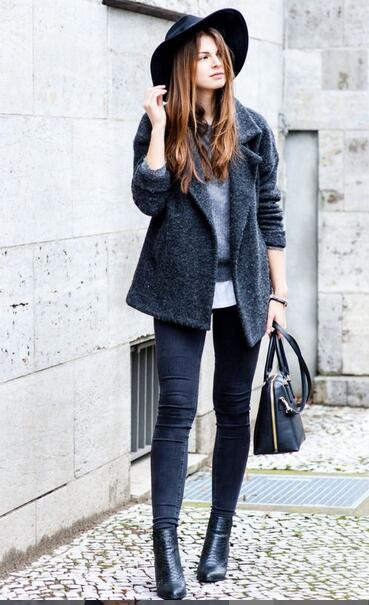 Fashionable Grey Outfit for Winter