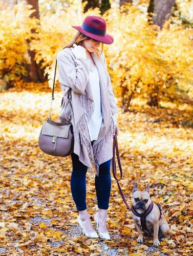Fringe Coat Outfit with A Hat
