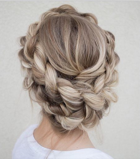 Gorgeous Ash Blonde Braided Updo