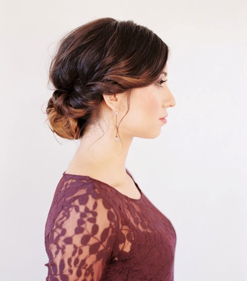 Graceful Low Bun for Prom