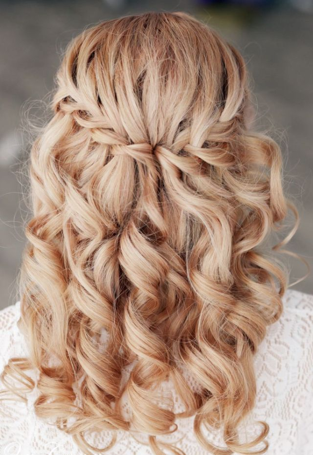 Lovely Waterfall Braids with Ringlets