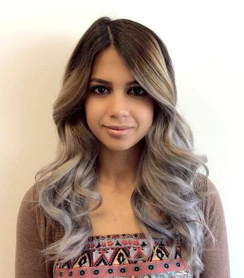 Ombre Ash Blonde Hairstyle