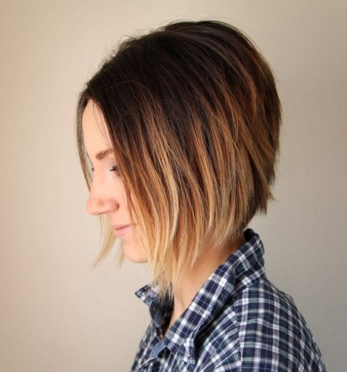 Ombre Bob Haircut for Thick Hair