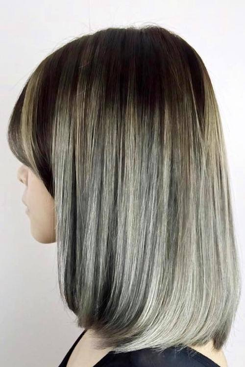 Ombre Long Bob For Ash Blonde Hair