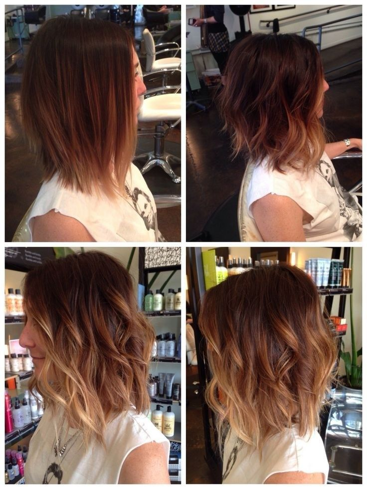 20 delightful wavy curly bob hairstyles for 2016 styles - Long bob ombre ...