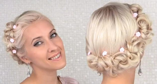 Platinum Updo Hairstyle for Prom