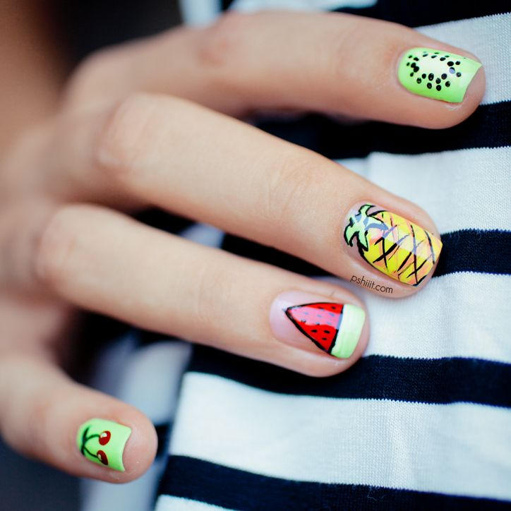 Pretty Fruit Nail Design