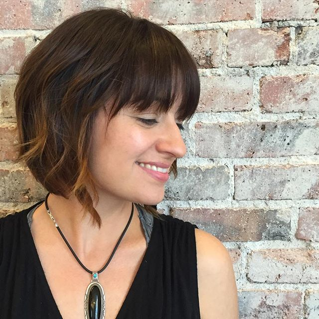 Magnificent Bob Haircuts 2016 With Bangs Best Hairstyles 2017 Short Hairstyles Gunalazisus