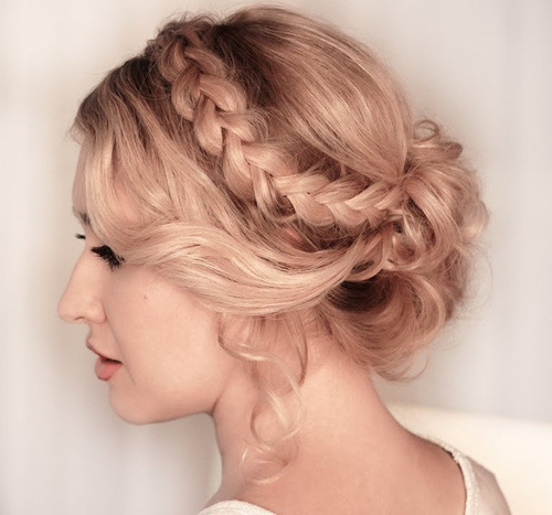 Romantic Braided Updo for Prom
