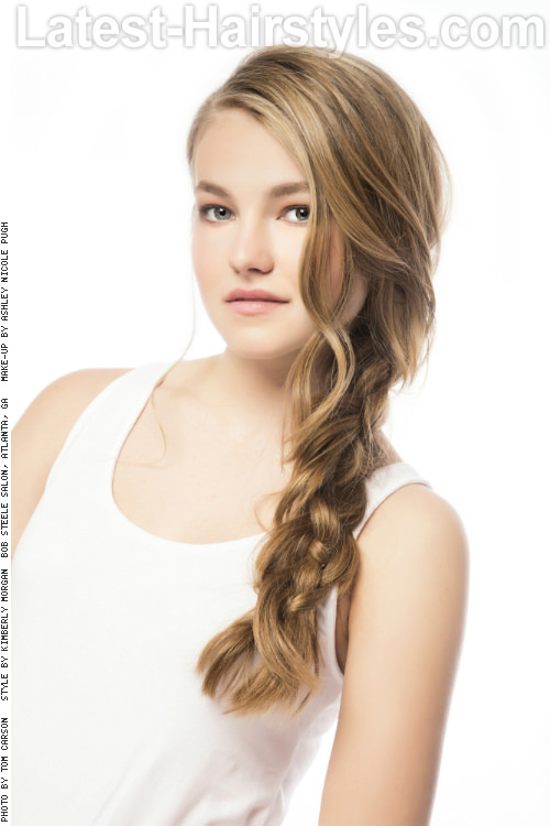 Braided Hairstyle for Layer Hair