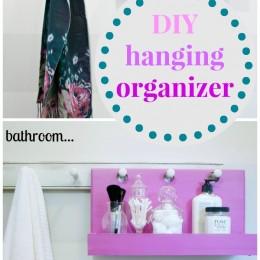 Simple DIY Hanging Organizer Idea