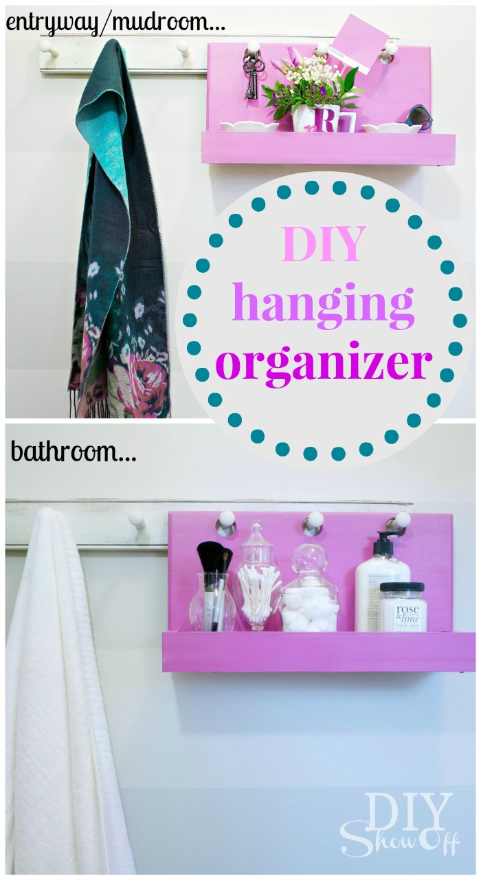 Simple DIY Hanging Organizer Idea