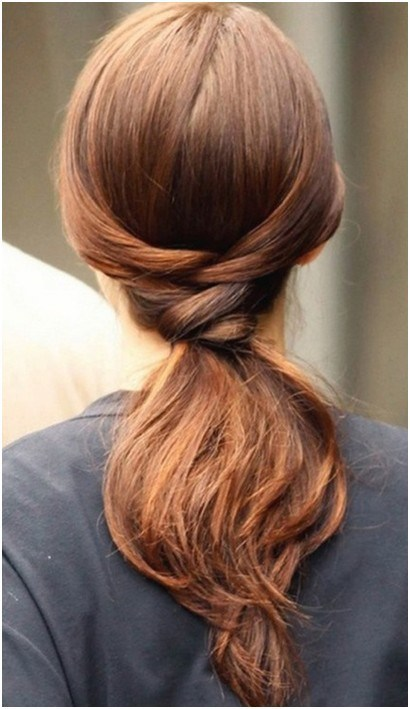 Simple Knotted Ponytail for Straight Hair