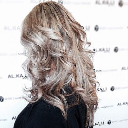 Stylish Long Curly Hairstyle for Ash Blonde Hair