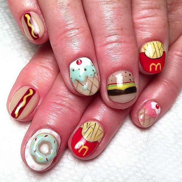Sweet Doughnut Nail Designs