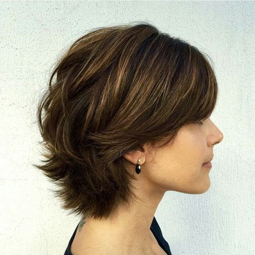 Thick Hairstyle with Layers