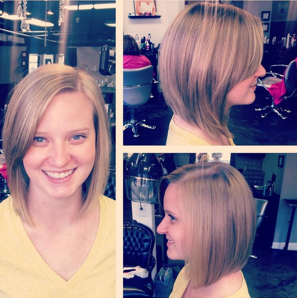 casual short haircut for round face shapes