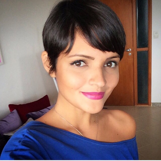 cute short pixie cut with bangs for thin fine hair