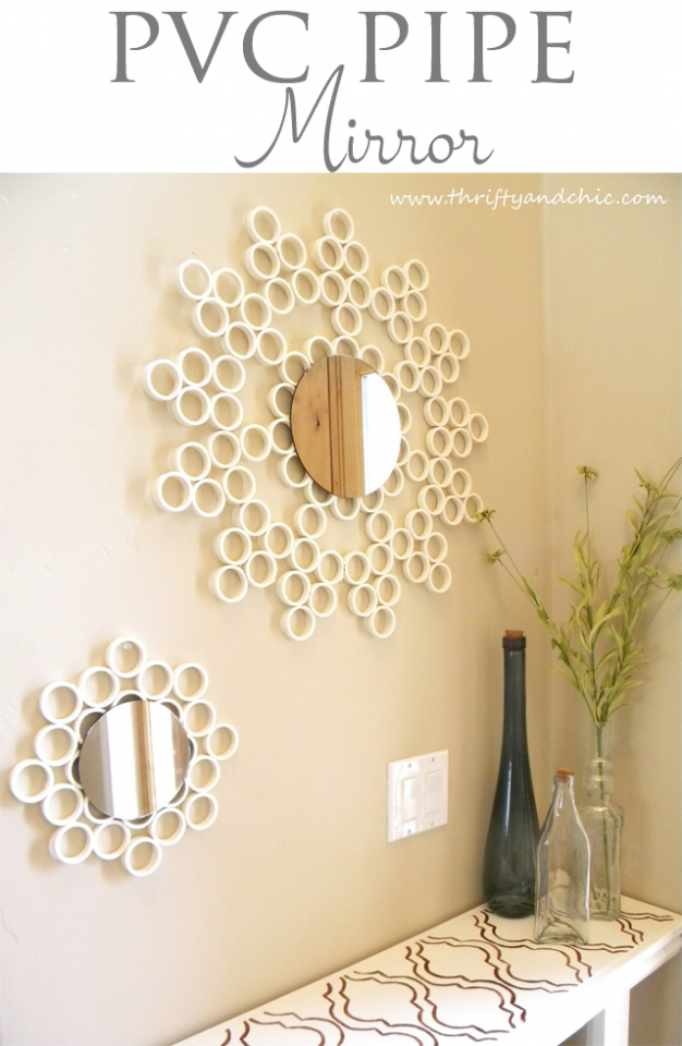 DIY Mirror with PVC Pipes