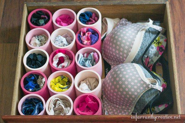 DIY Underwear Organizer