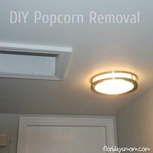 DIY Popcorn Removal