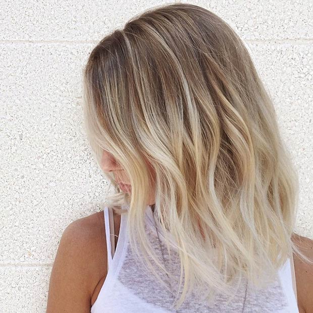 longer ombre bob hairstyle for thin hair