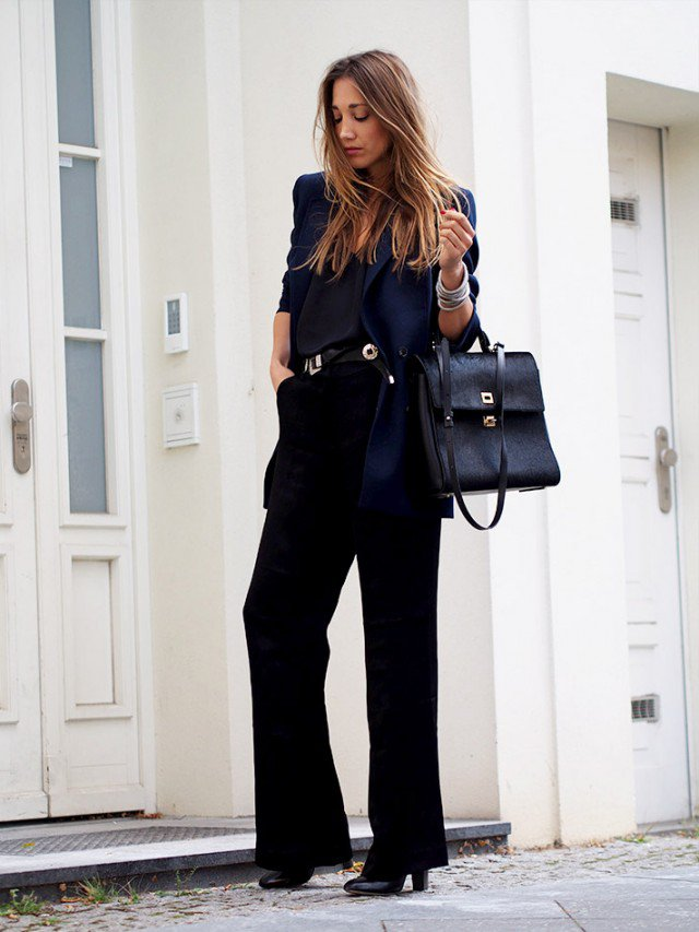 Classy Pants Outfit with Black Blazer