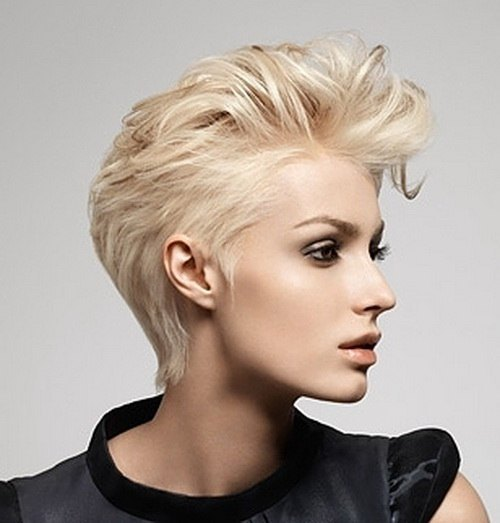Chic Pixie Haircut with A Long Fringe