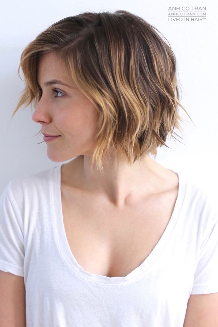 Popular Haircuts 2016 : Simple easy daily short haircut for 2016  the ombre bob cut