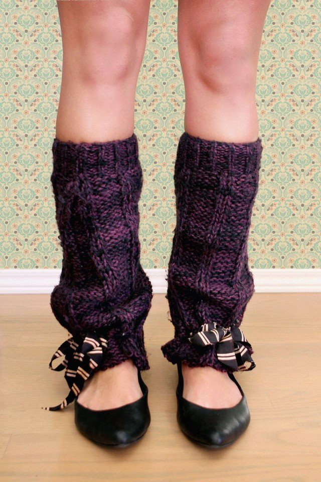 Simple DIY Leg Warmers Idea