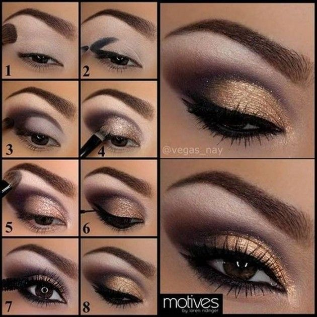 Trendy Bronze Eye Makeup Tutorial for New Year