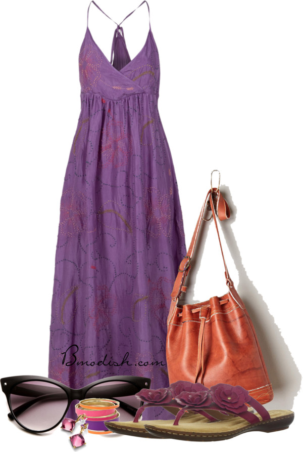 21 lovely looks for summer weddings styles weekly for Purple maxi dresses for weddings