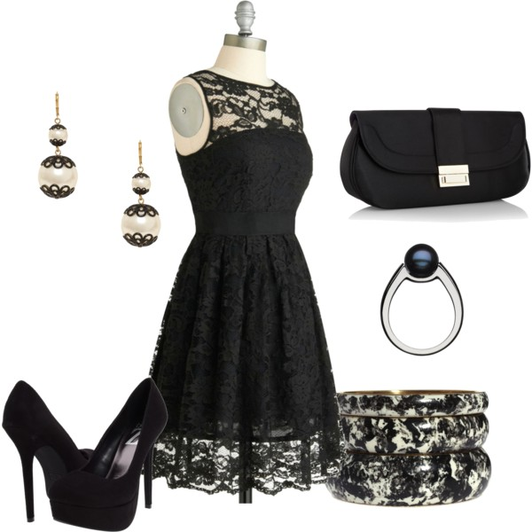 21 Y All Black Outfits For Winter Little Lace Dress