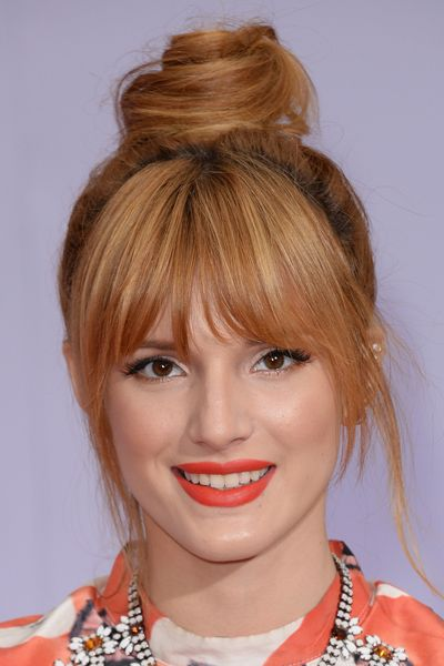 Adorable Top Knot with Bangs for Teenage Girls