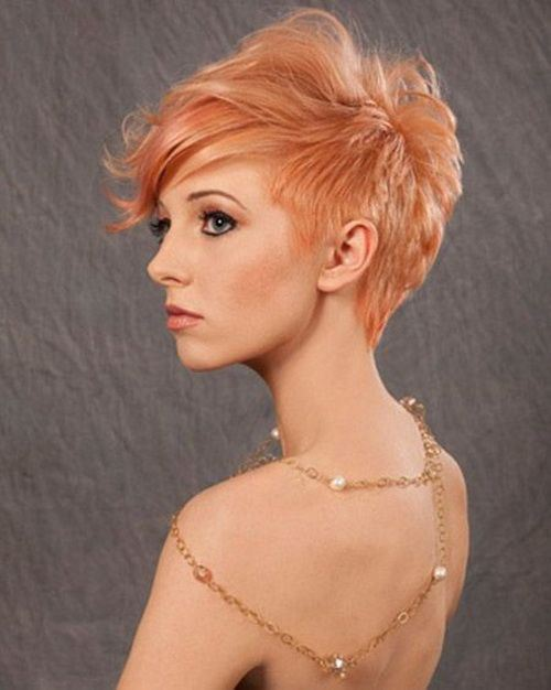 Auburn Asymmetrical Short Haircut for Prom