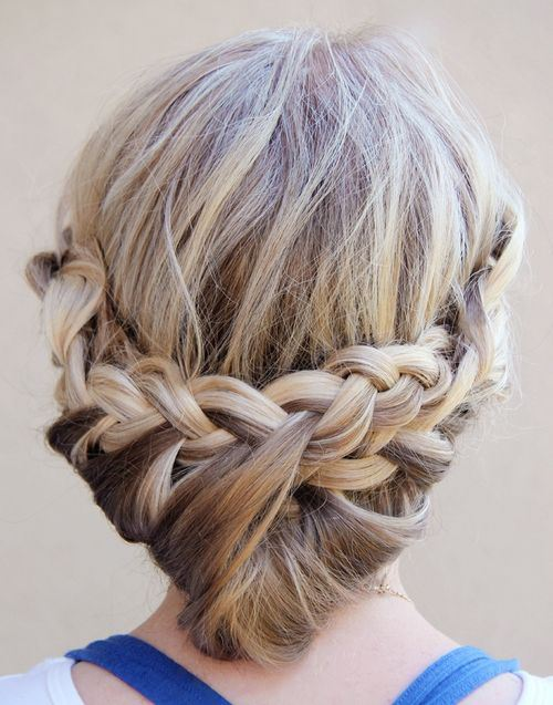 Beautiful Braided Lower Updo