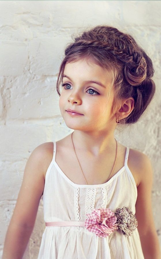 Beautiful Braided Updo Hairstyle for Little Girls