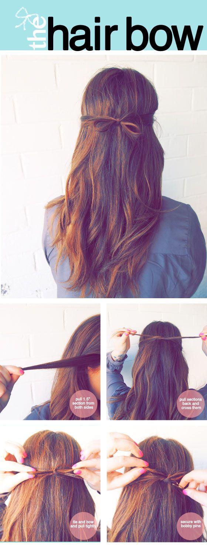 Beautiful Hair Bow Tutorial for Long Hair
