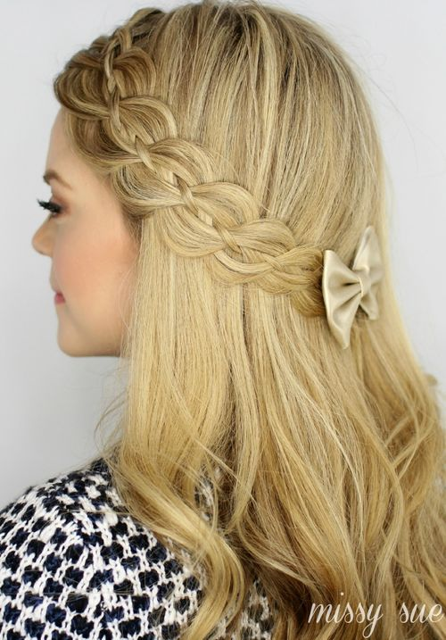 Beautiful Lacy Braided Half Up Half Down Hairstyle