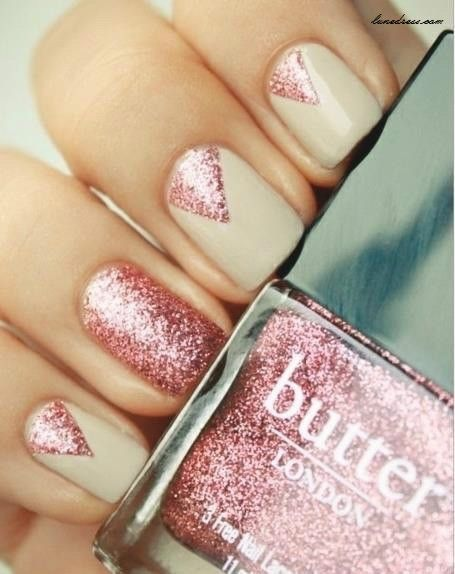 Beautiful Pink Shimmer Nail Art