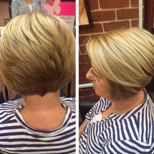 Blonde Short Haircut for Women Over 50
