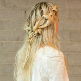 Boho Chic Braided Half Updo Hairstyle