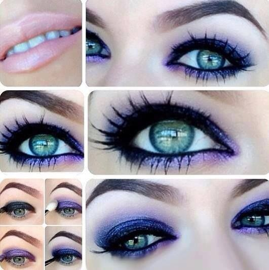 Charming Purple Smoky Eye Makeup Tutorial for New Year
