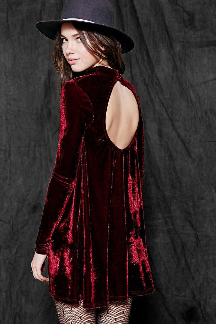 Chic Maroon Velvet Dress Outfit