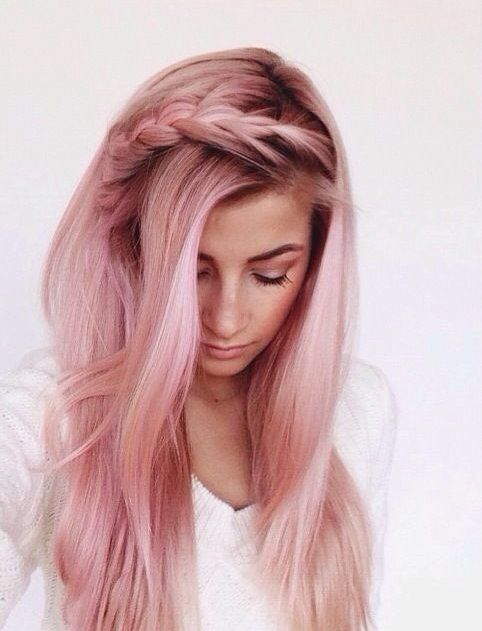 Chic Pastel Pink Hairstyle
