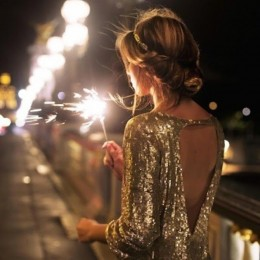 Chic Sequined Dress for New Year's Eve